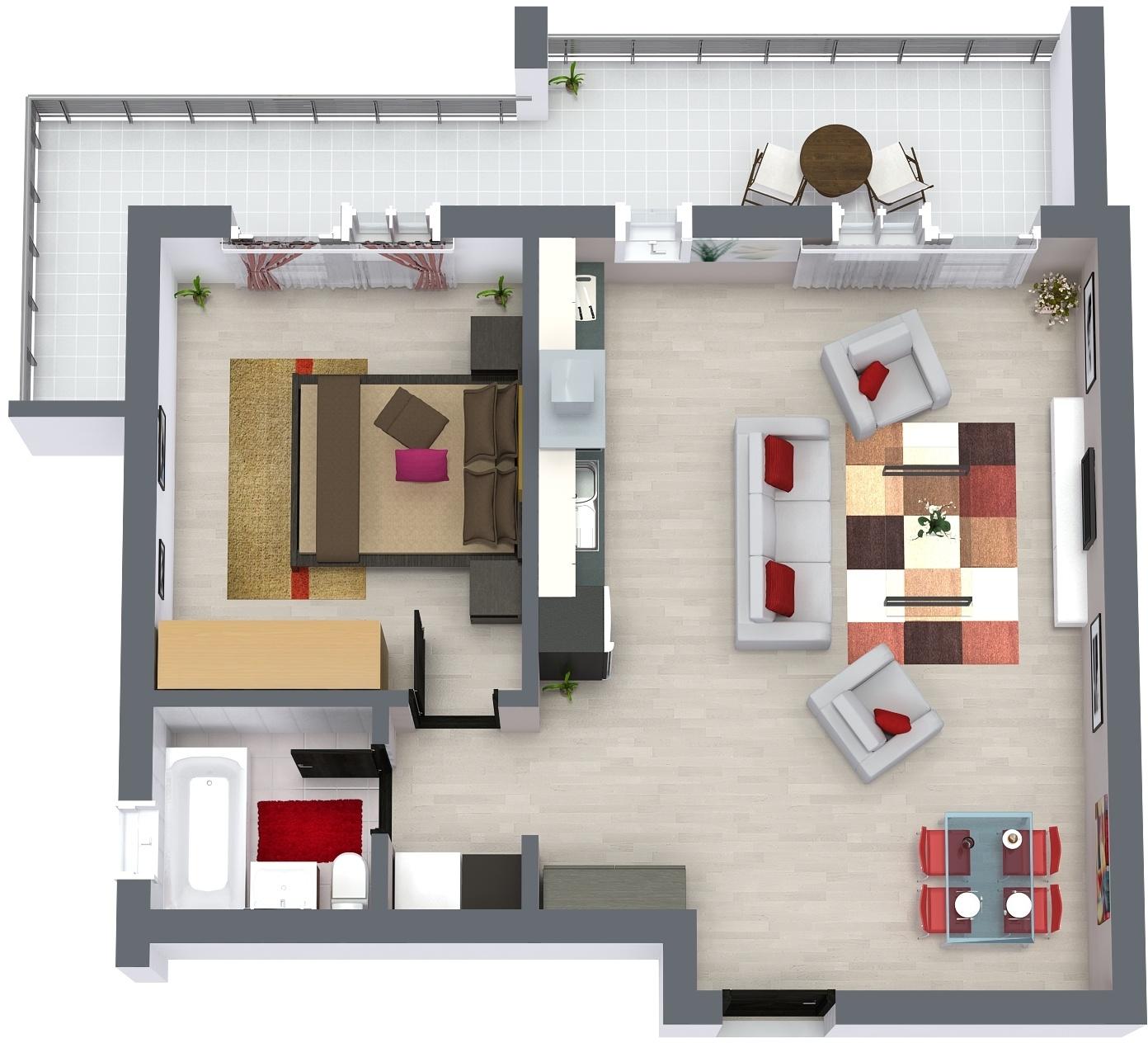 Apartament E1 Plan Poarta Bucurestilor