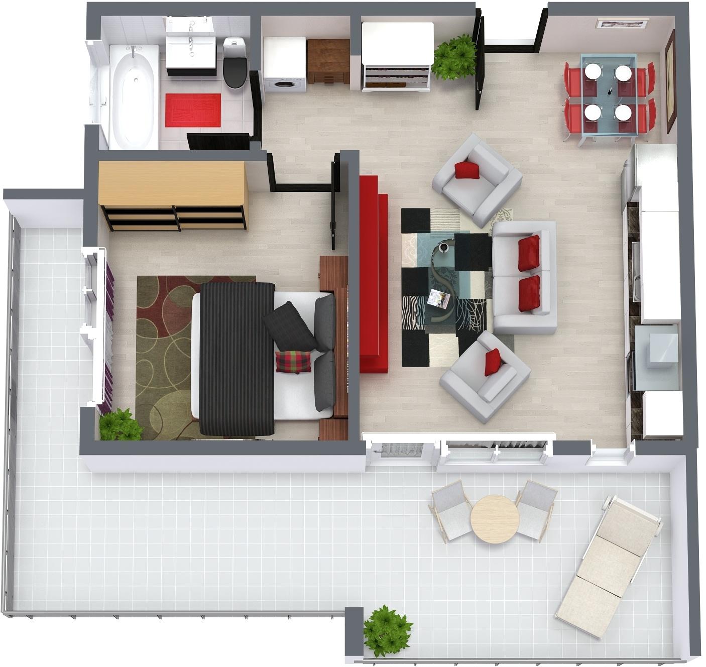 Apartament E2 Plan Poarta Bucurestilor