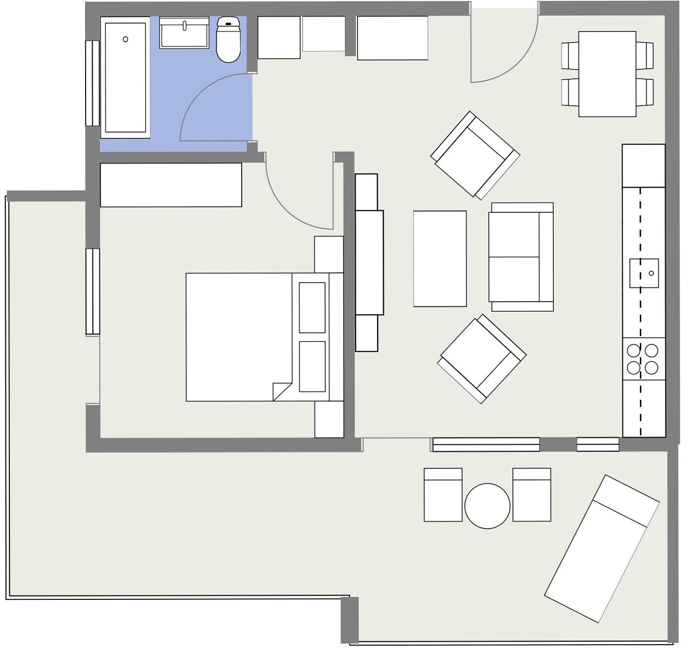 Apartament E2 Schita Poarta Bucurestilor