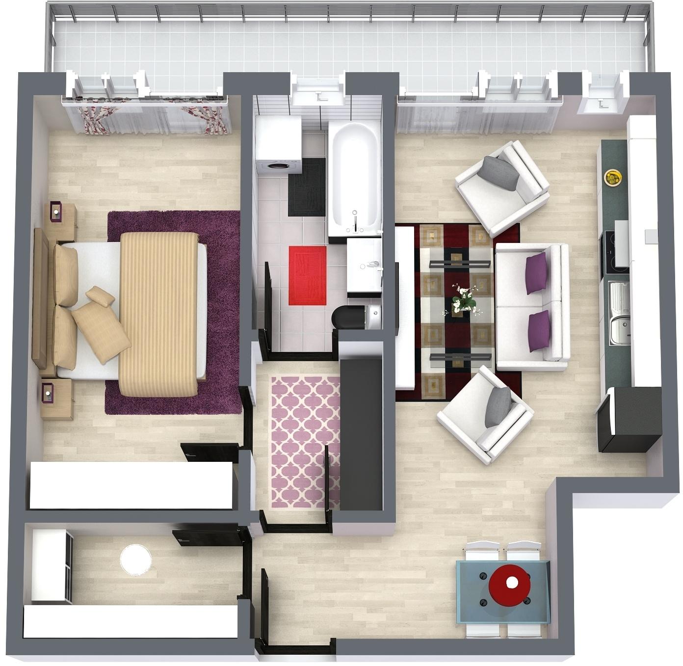 Apartament E3 Plan Poarta Bucurestilor