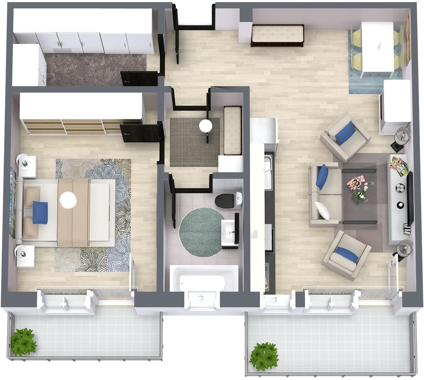 Apartament E4 Plan Poarta Bucurestilor