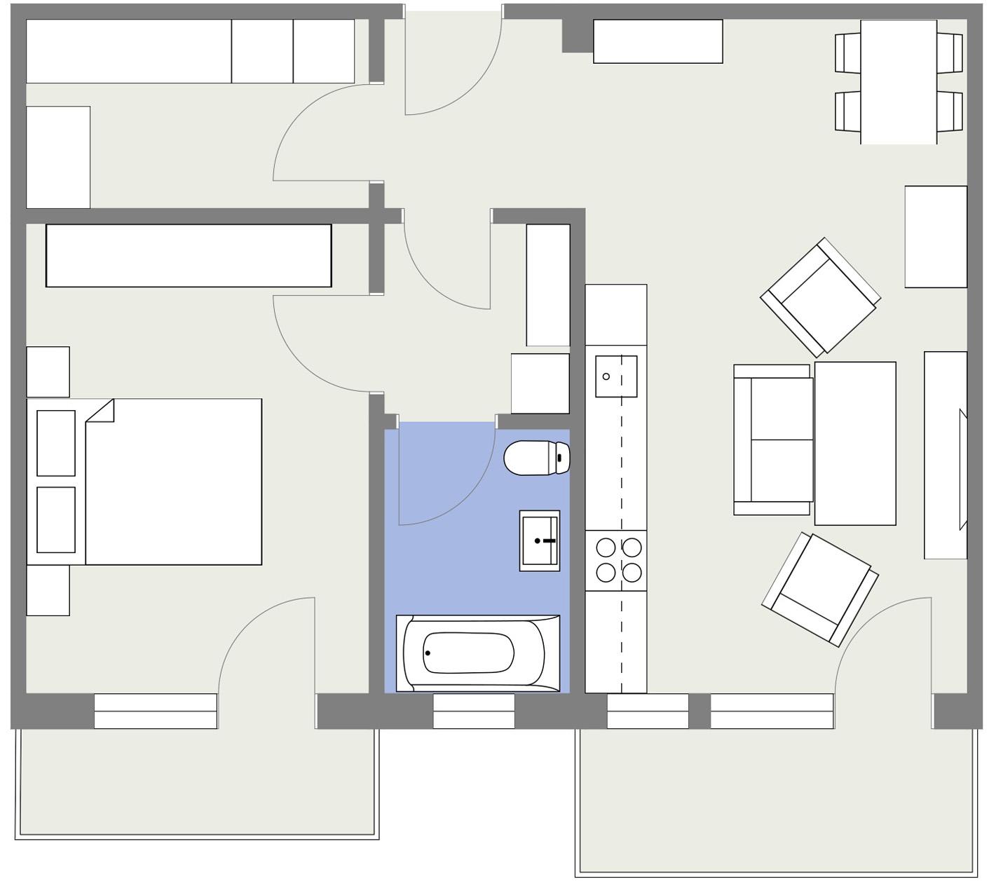 Apartament E4 Schita Poarta Bucurestilor
