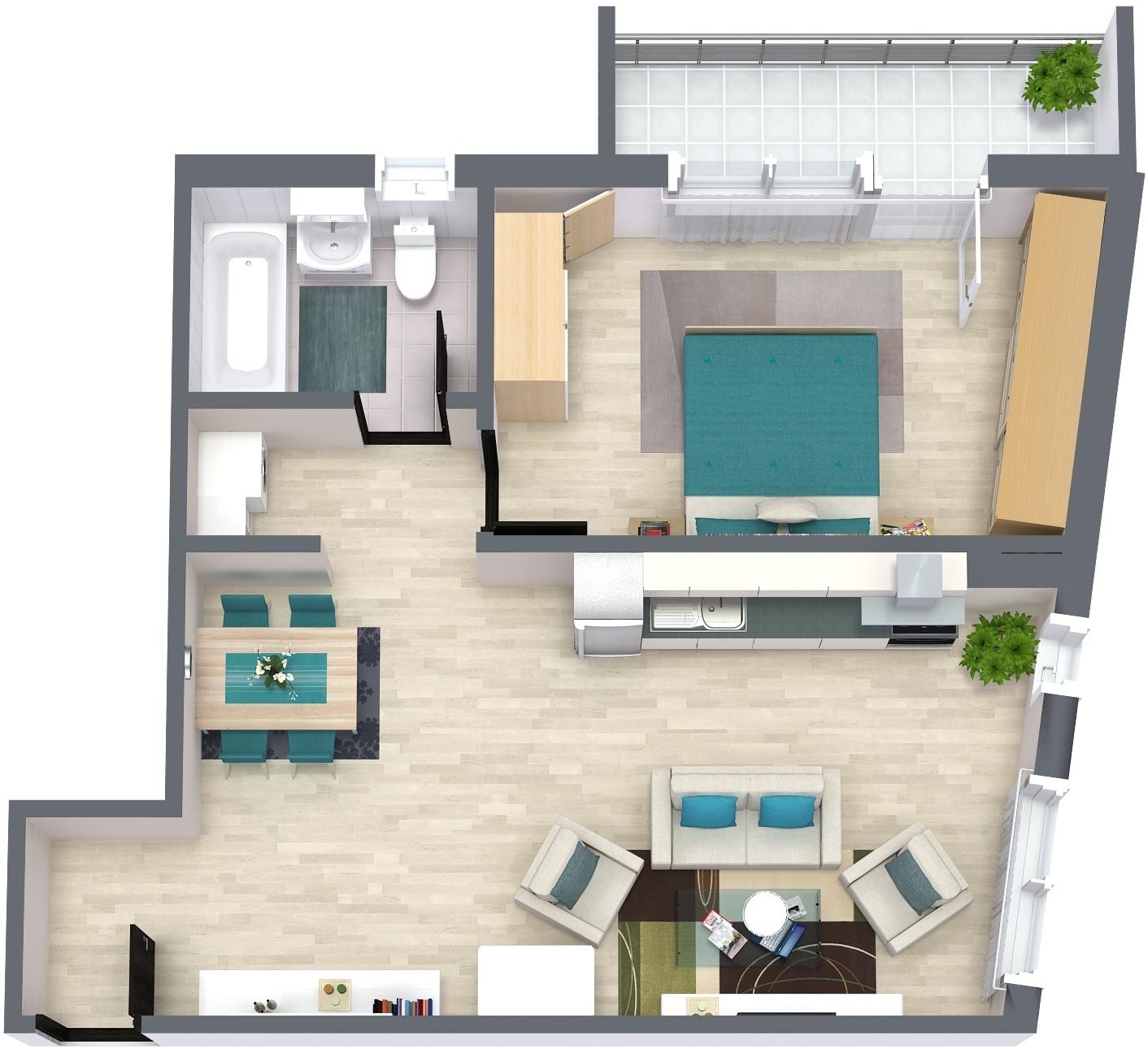 Apartament E5 Plan Poarta Bucurestilor