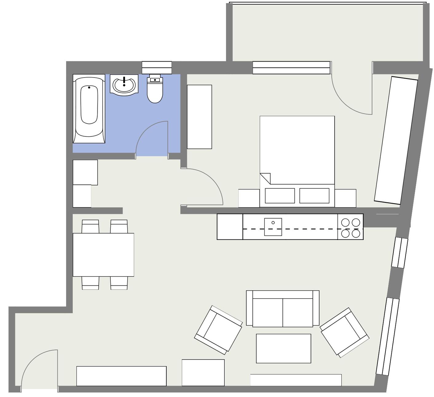 Apartament E5 Schita Poarta Bucurestilor