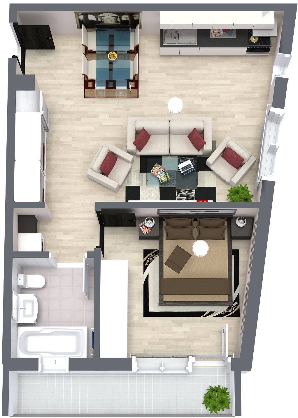 Apartament E6 Plan Poarta Bucurestilor