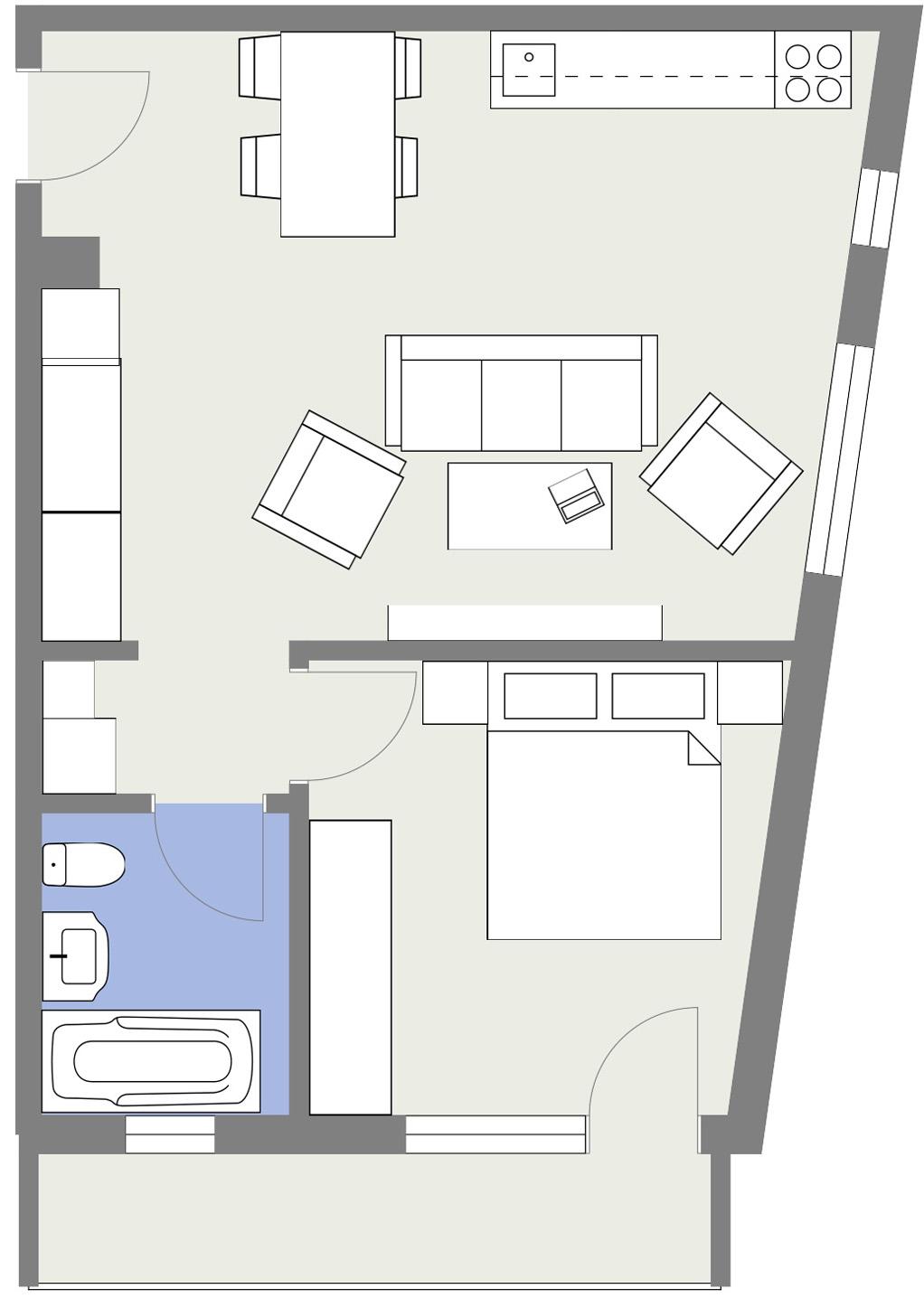 Apartament E6 Schita Poarta Bucurestilor