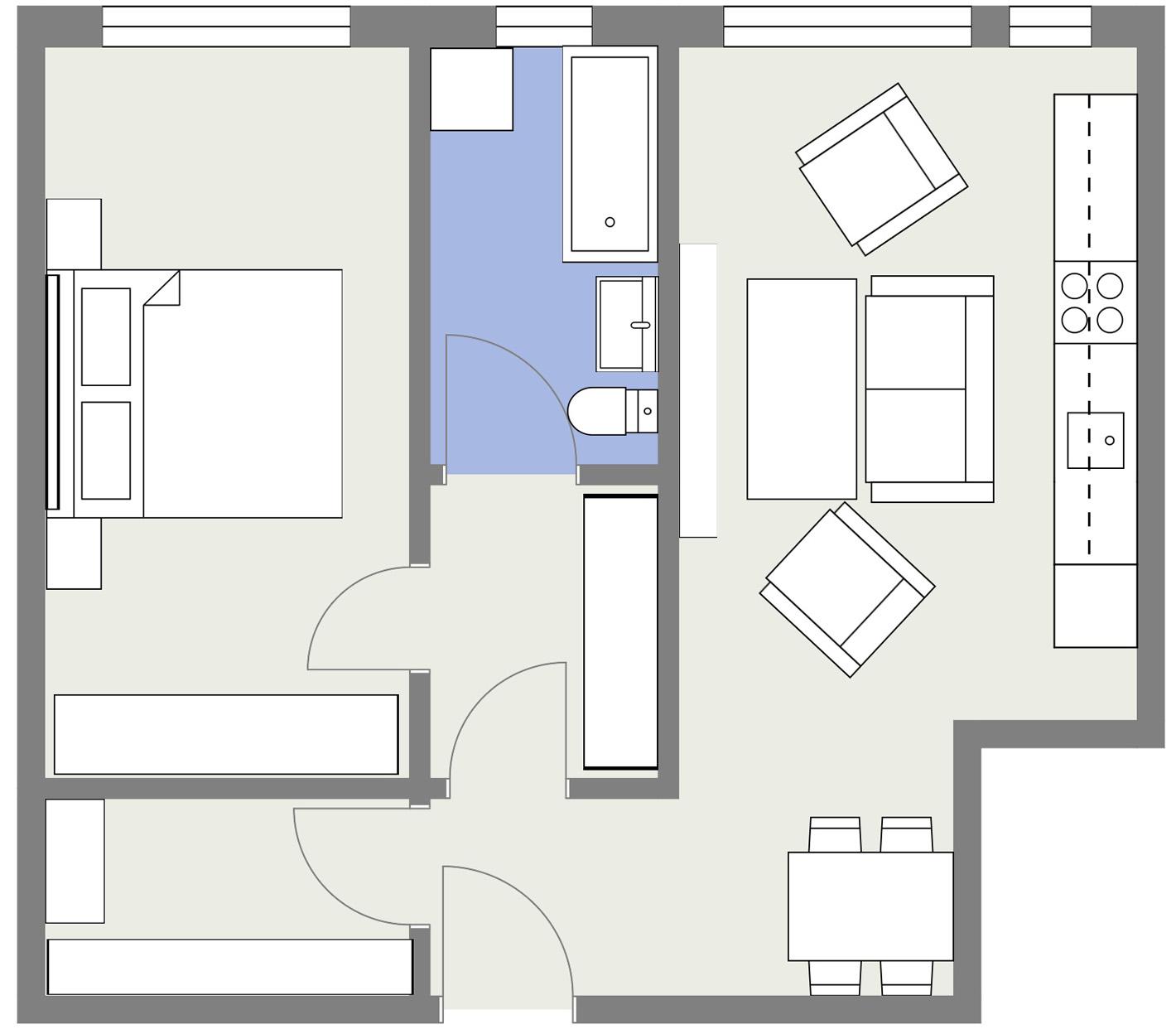 Apartament P3 Schita Poarta Bucurestilor