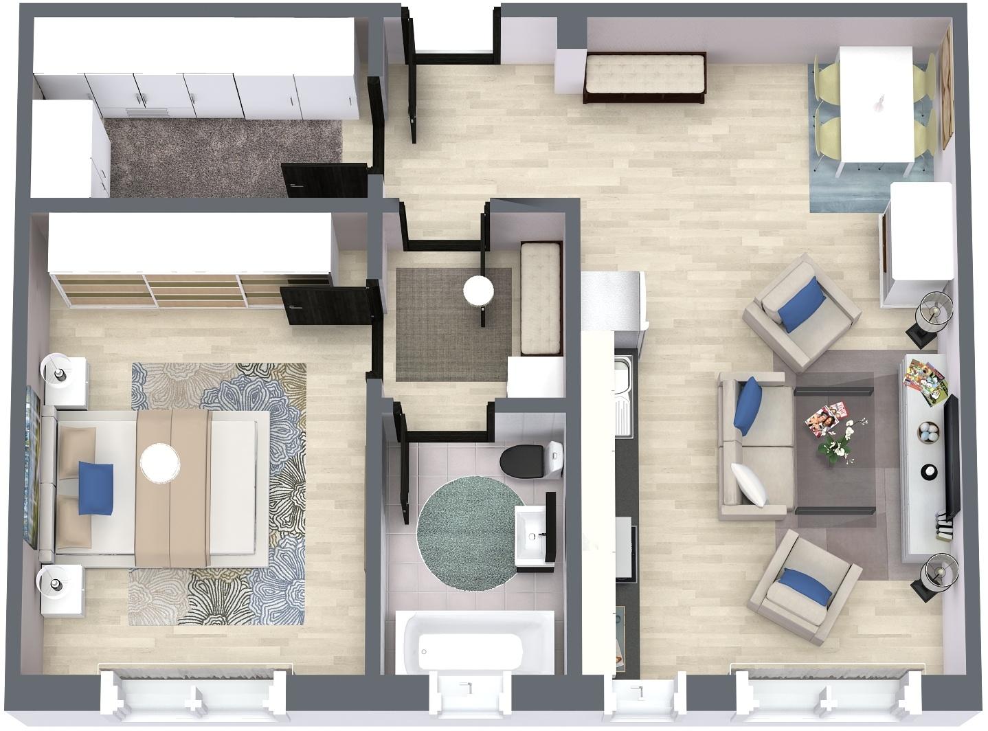 Apartament P4 Plan Poarta Bucurestilor