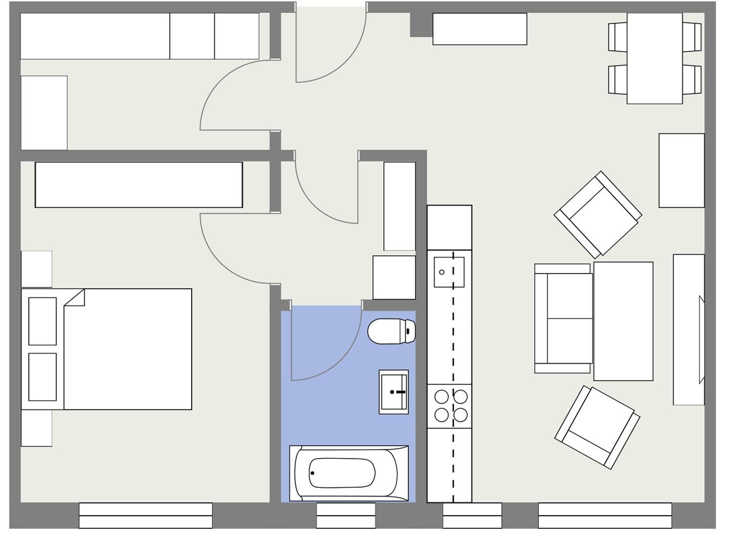 Apartament P4 Schita Poarta Bucurestilor