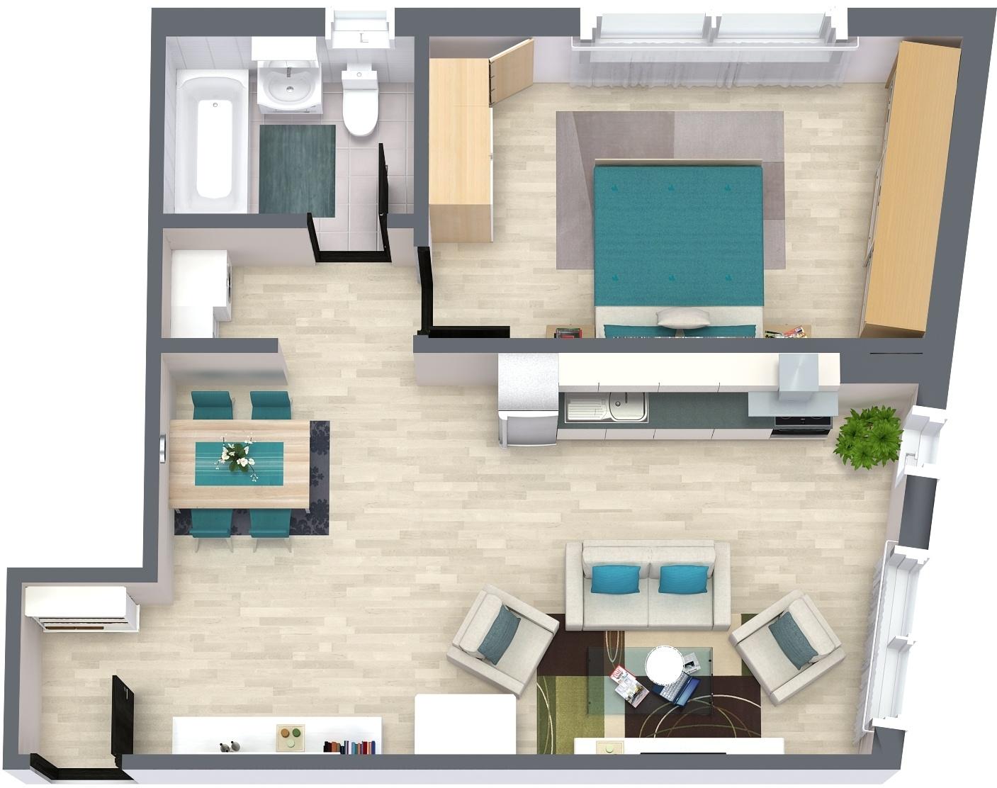 Apartament P5 Plan Poarta Bucurestilor