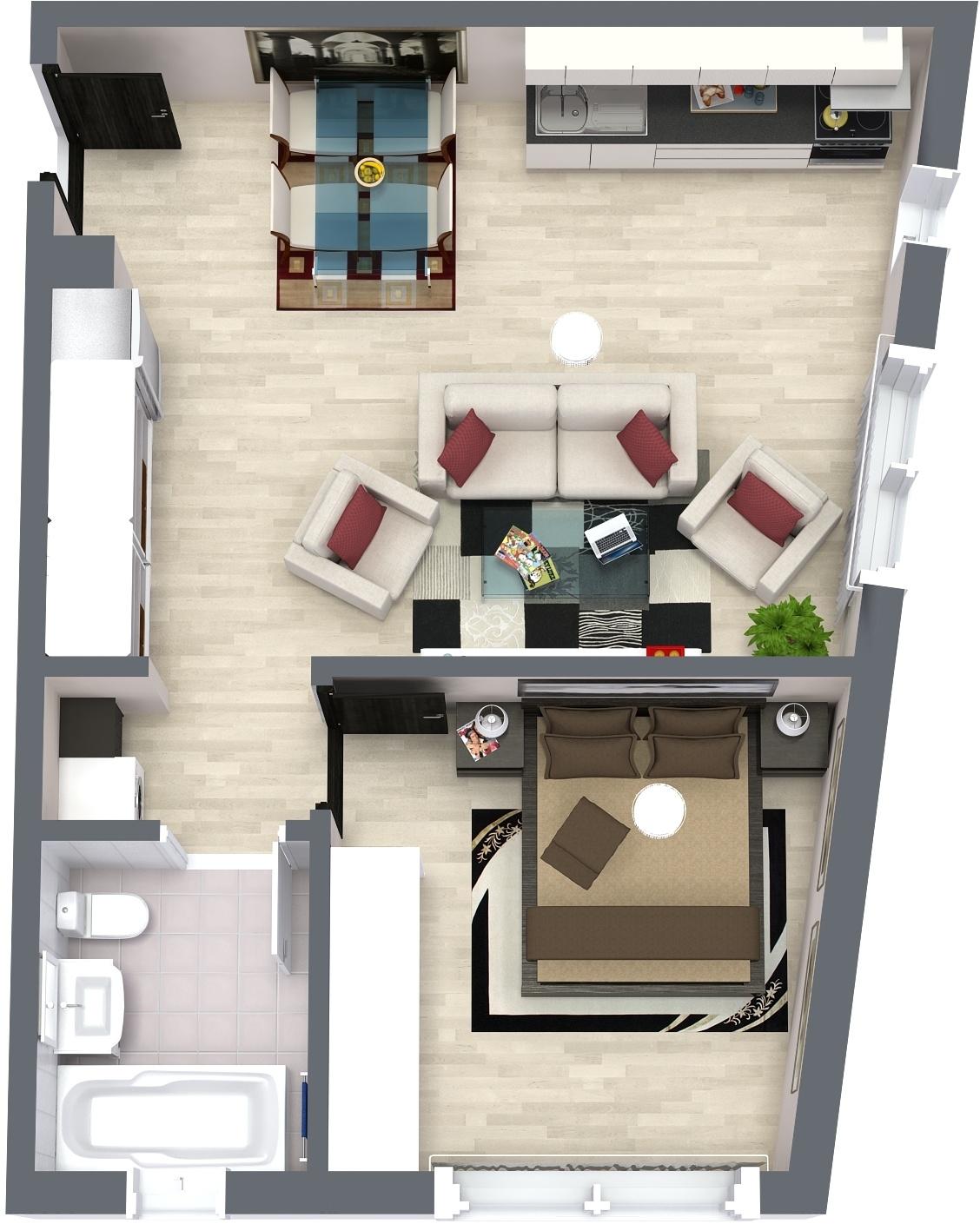 Apartament P6 Plan Poarta Bucurestilor