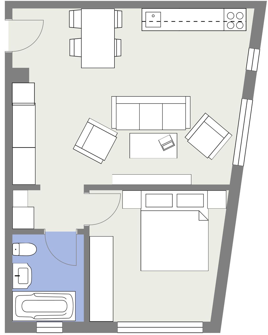 Apartament P6 Schita Poarta Bucurestilor
